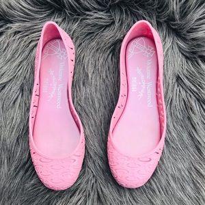 Melissa✖️Vivienne Westwood pink jelly flats